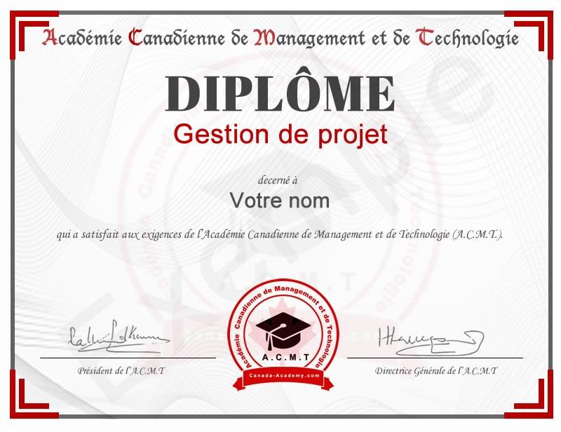 Meilleur diplôme Gestion de projet