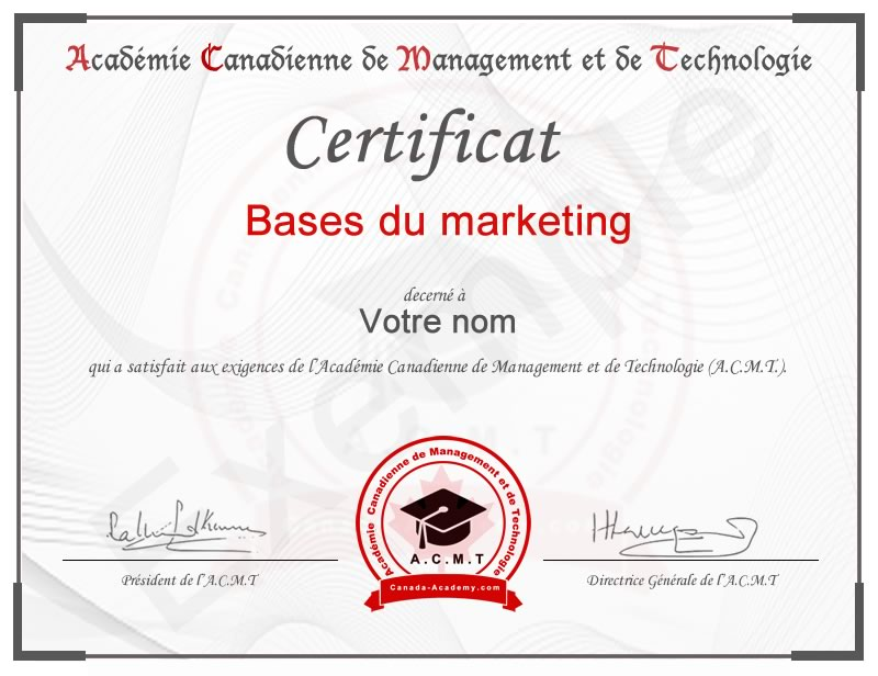 meilleur certificat marketing en ligne