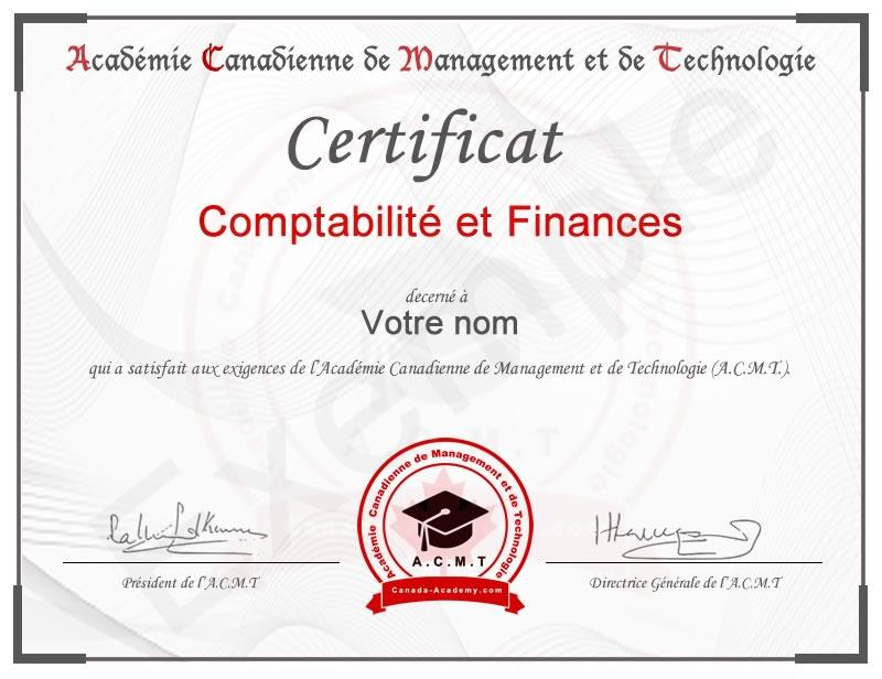 meilleur certificat Comptabilité et Finances