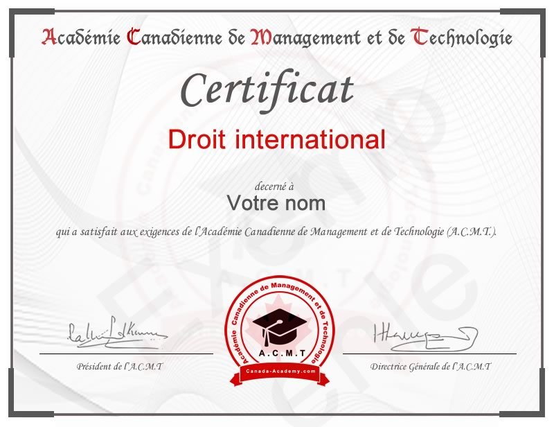 certificat-Droit international