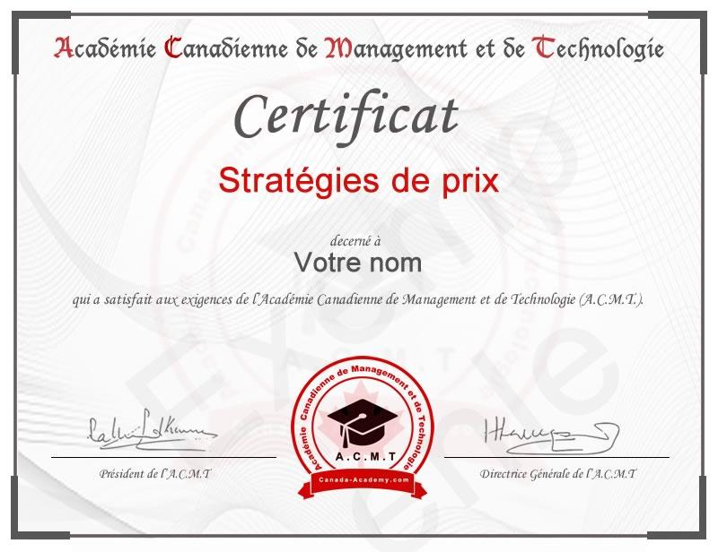 Meilleur certificat Stratégies de prix