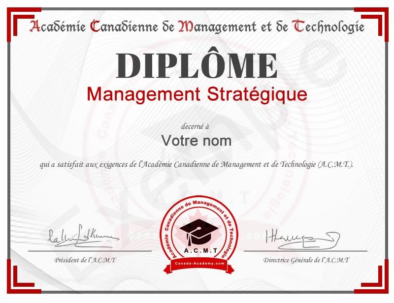 Meilleur diplome en Management Stratégique
