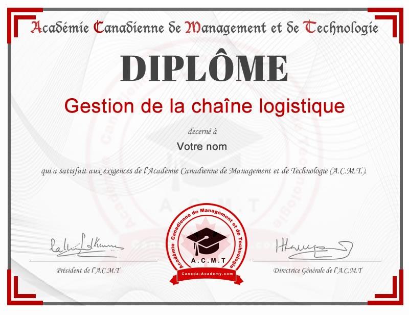 Meilleur diplome Gestion chaine logistique