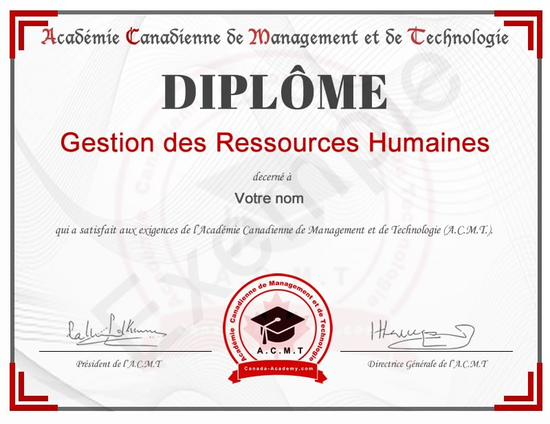 diplome-gestion-Ressources Humaines