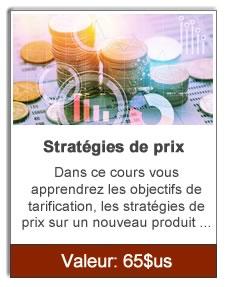 Stratégies de prix