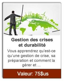 Gestion des crises et durabilité